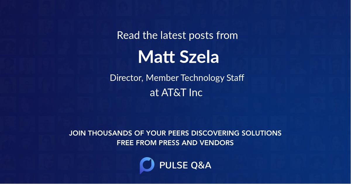 Matt Szela