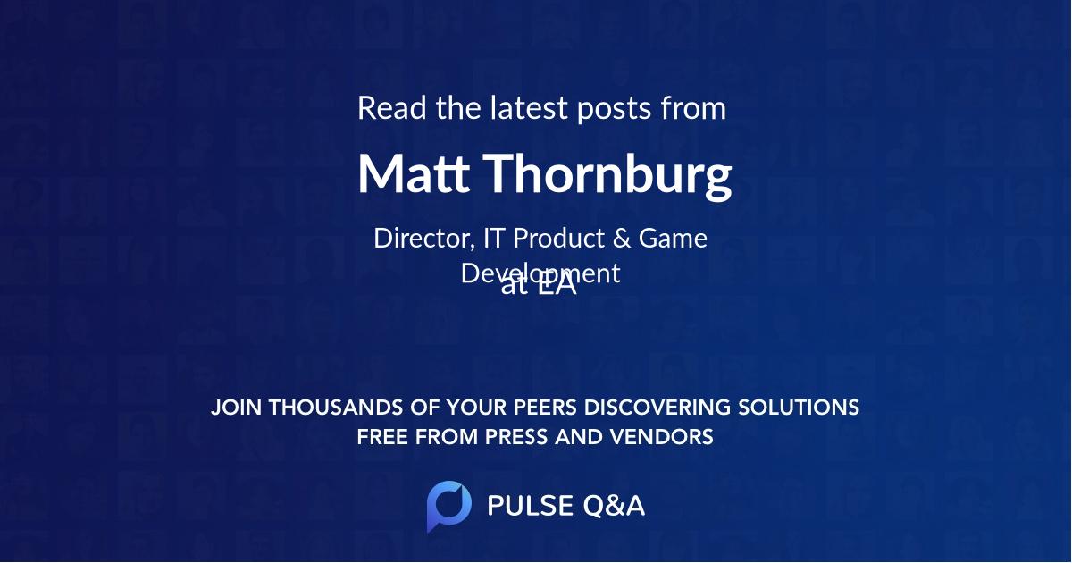 Matt Thornburg