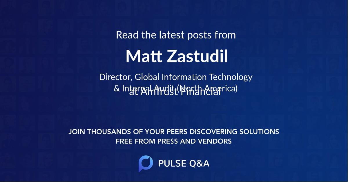 Matt Zastudil
