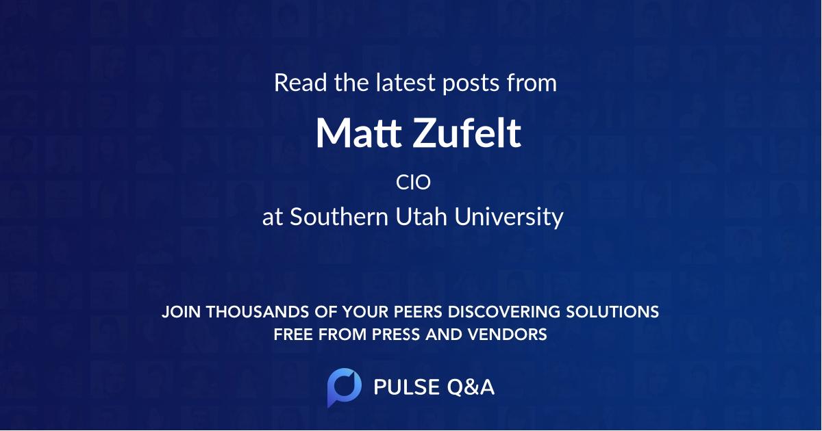 Matt Zufelt