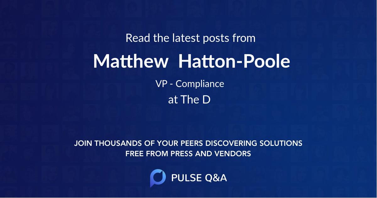 Matthew  Hatton-Poole