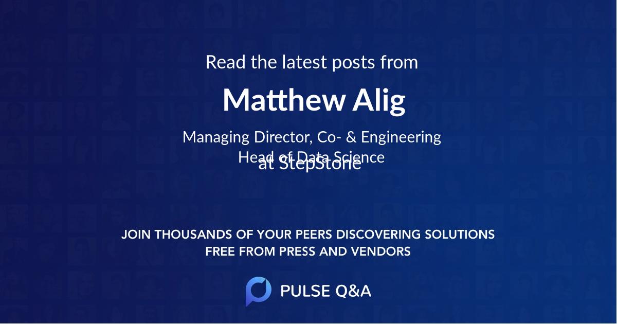 Matthew Alig