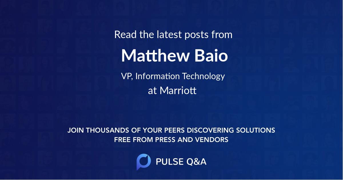 Matthew Baio
