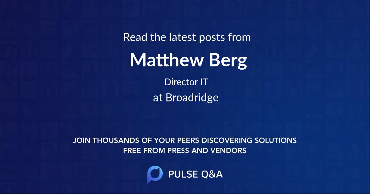 Matthew Berg