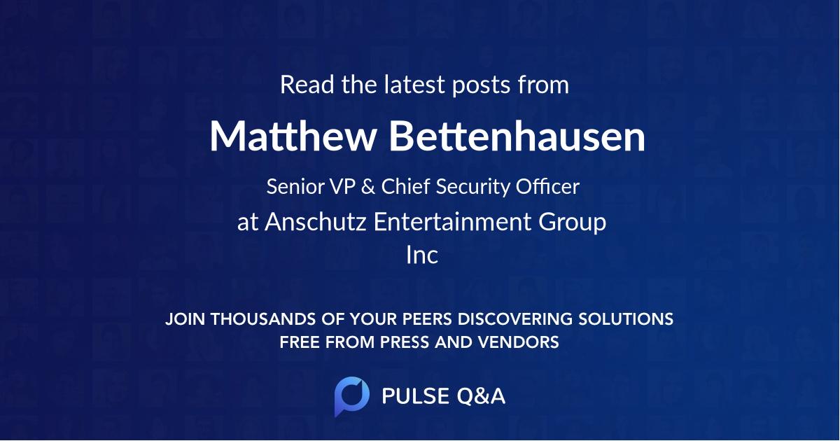 Matthew Bettenhausen