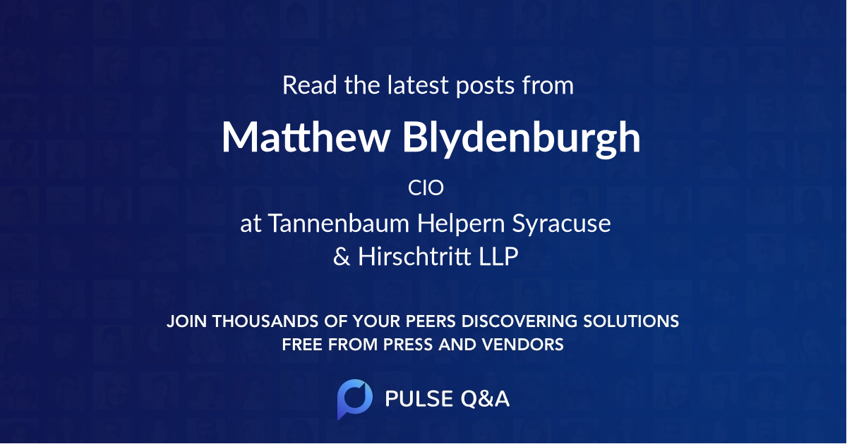 Matthew Blydenburgh