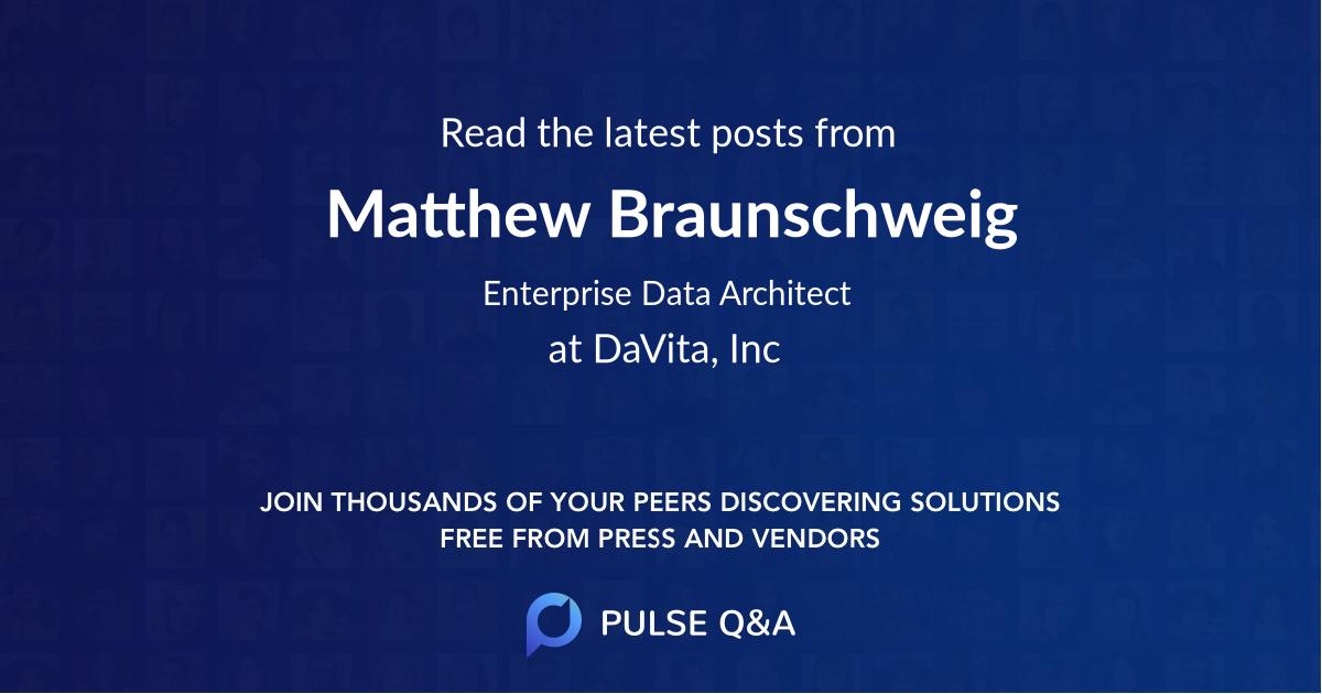 Matthew Braunschweig