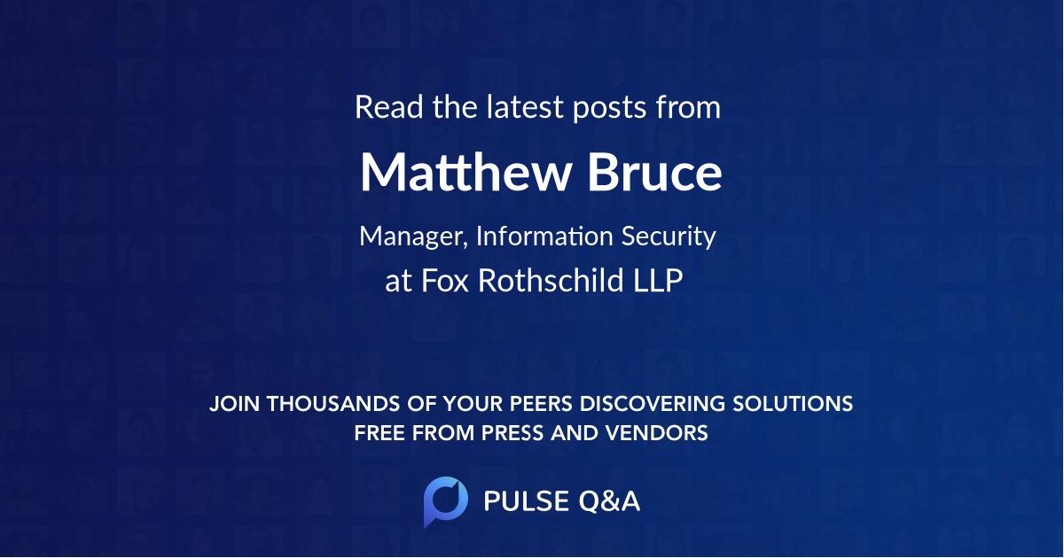 Matthew Bruce