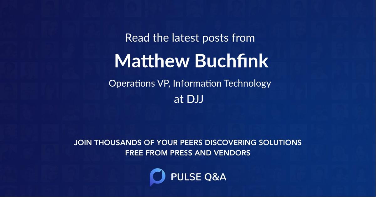 Matthew Buchfink