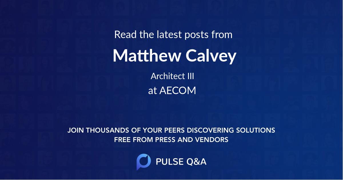 Matthew Calvey