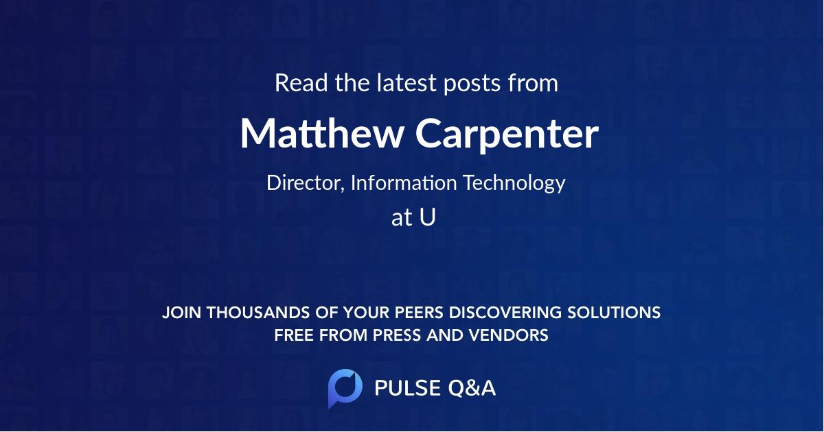Matthew Carpenter