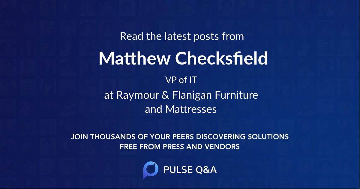 Matthew Checksfield