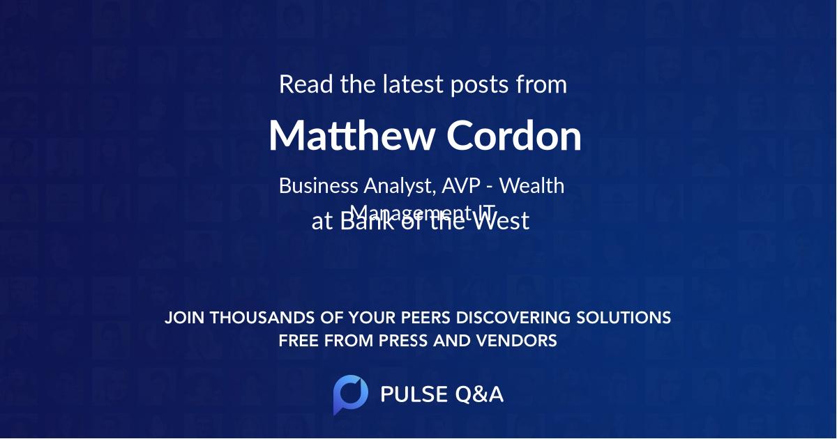 Matthew Cordon