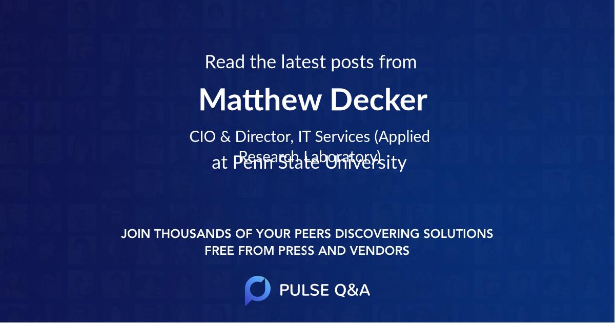 Matthew Decker