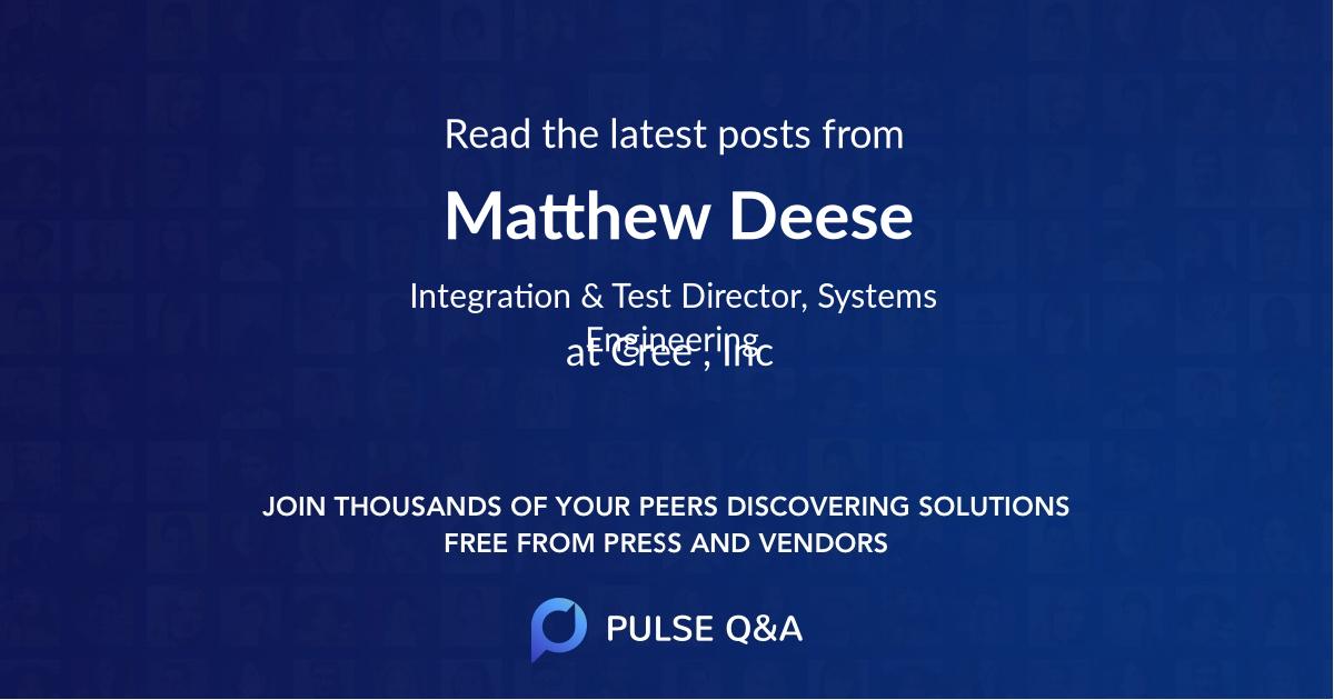 Matthew Deese