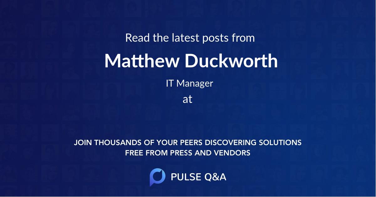 Matthew Duckworth