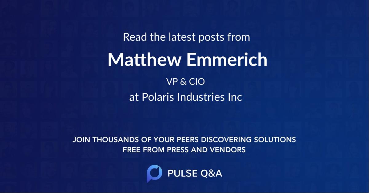 Matthew Emmerich