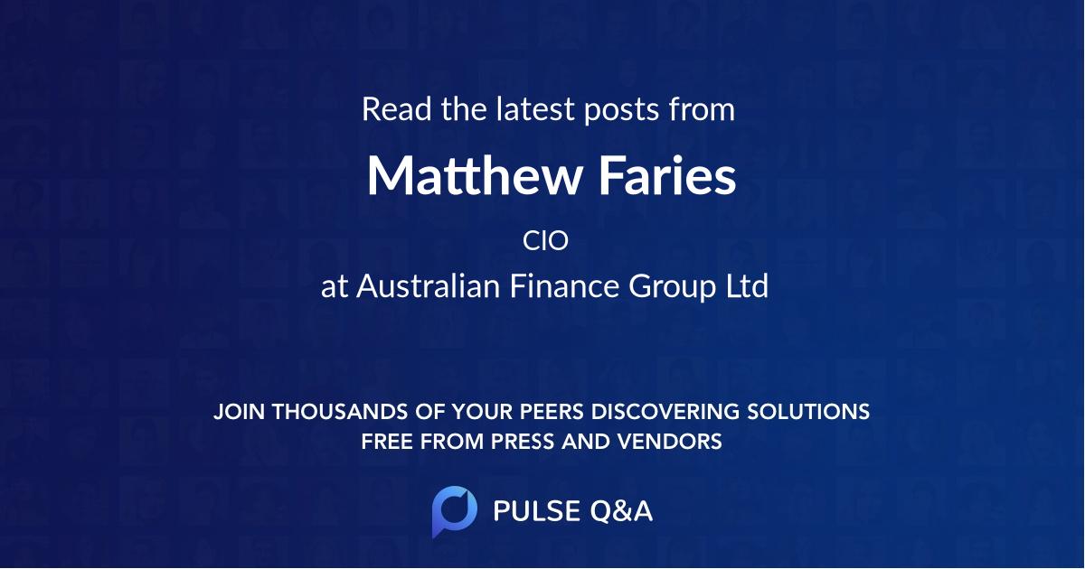 Matthew Faries