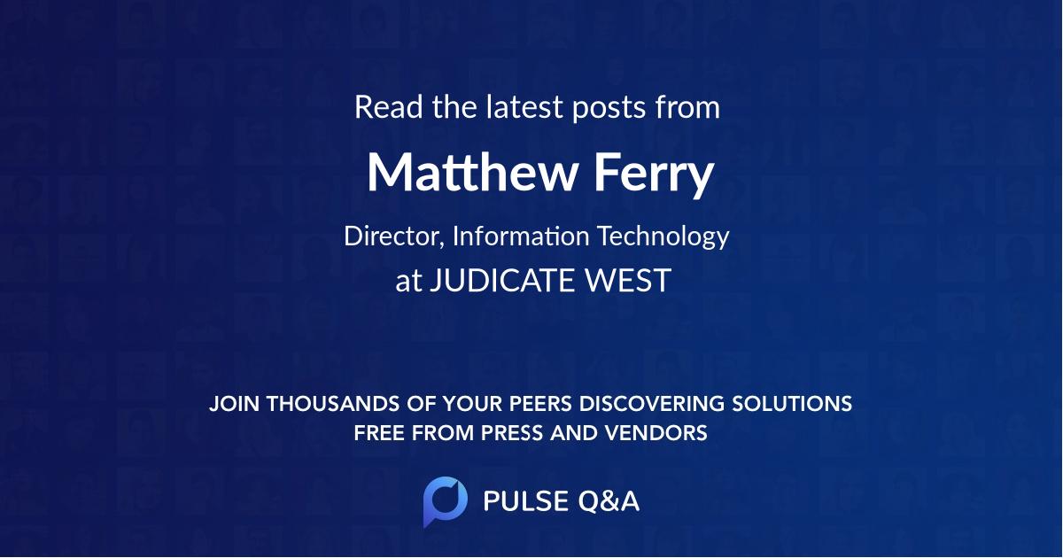 Matthew Ferry