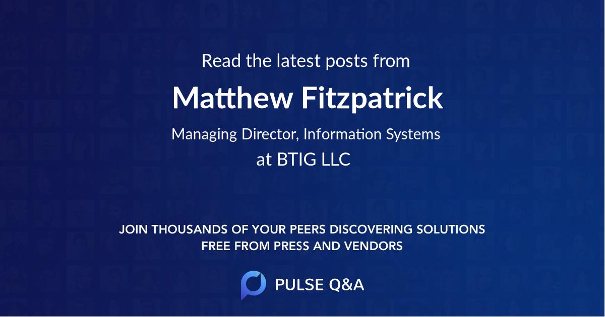 Matthew Fitzpatrick