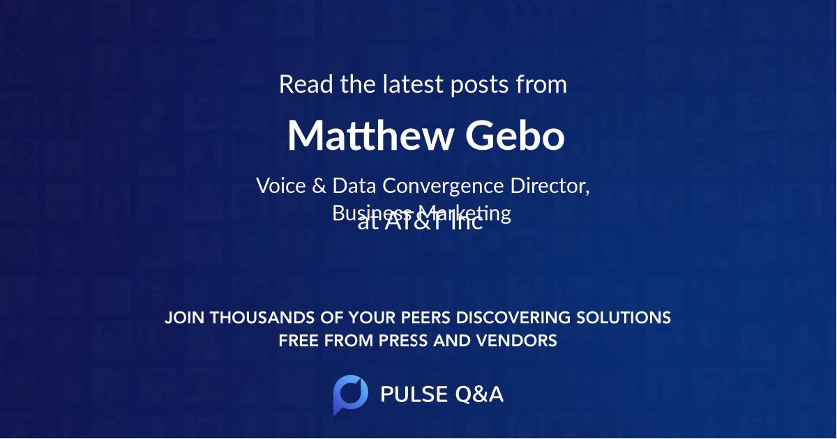 Matthew Gebo