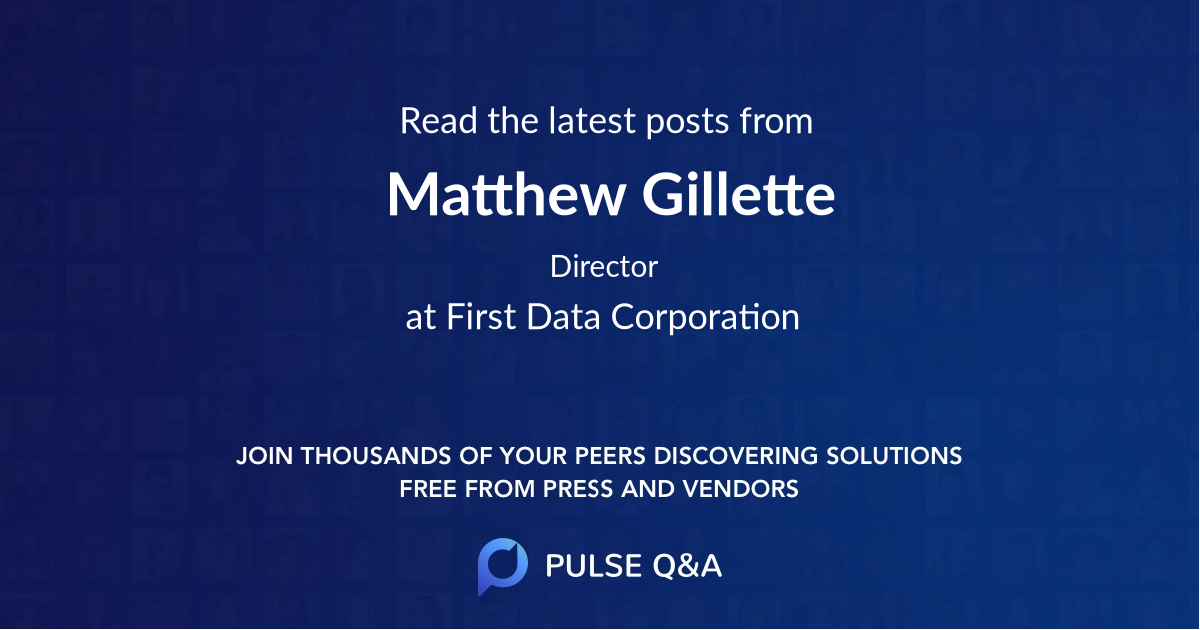 Matthew Gillette