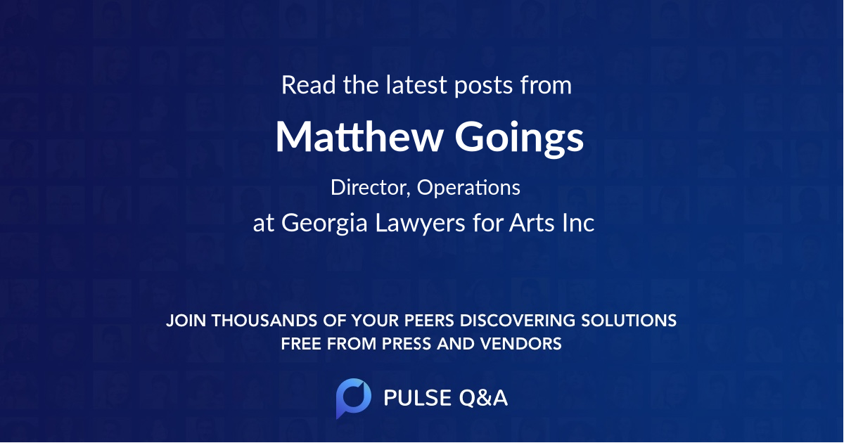 Matthew Goings