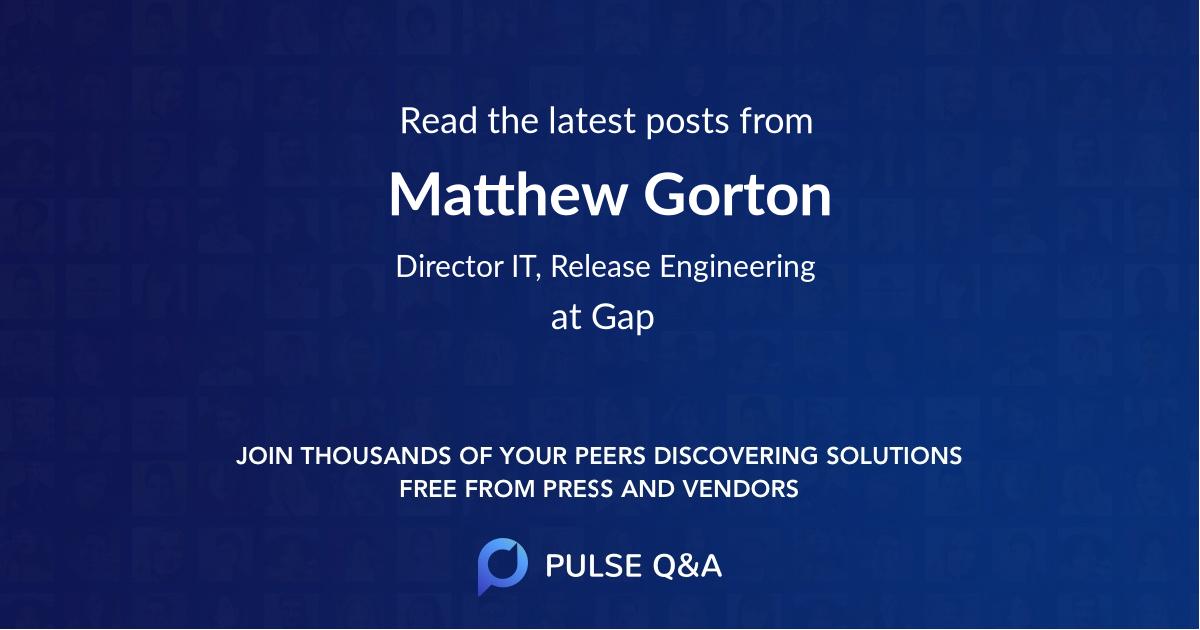 Matthew Gorton