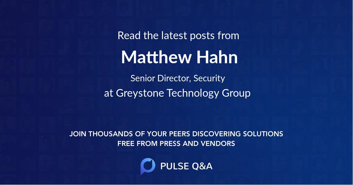 Matthew Hahn