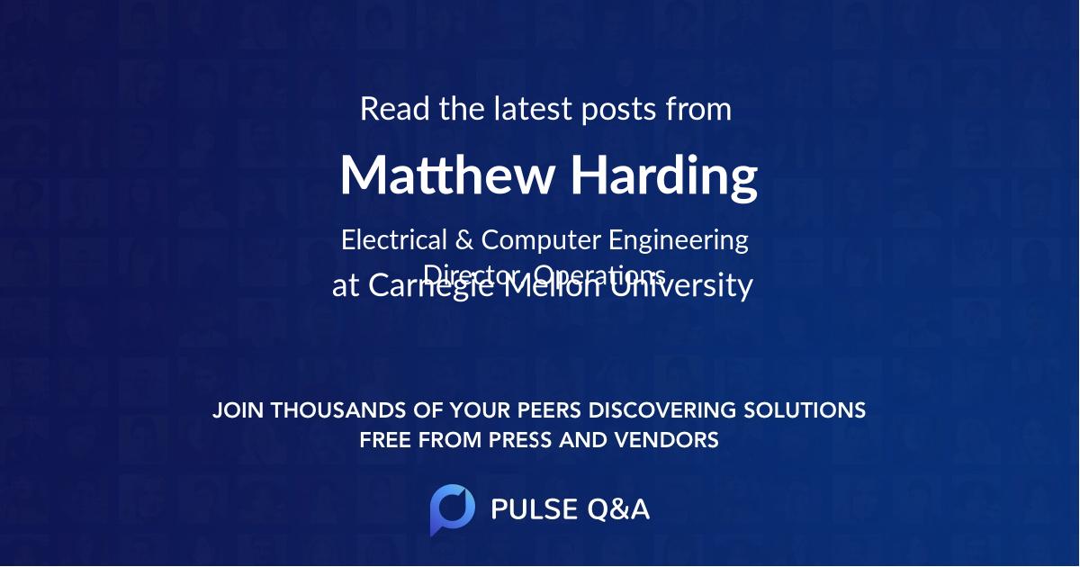 Matthew Harding