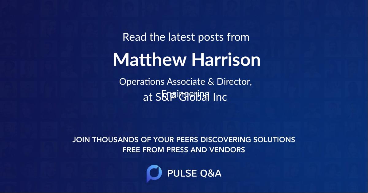 Matthew Harrison