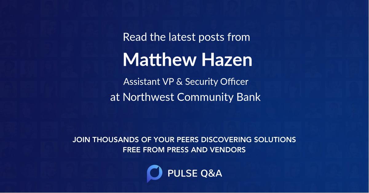 Matthew Hazen
