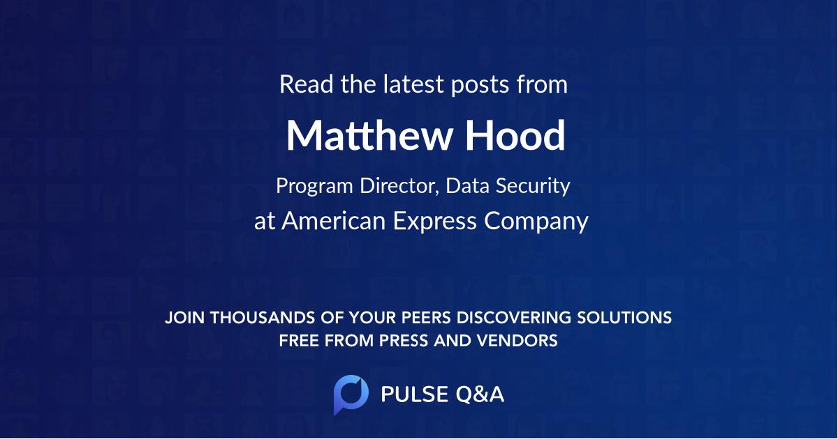 Matthew Hood
