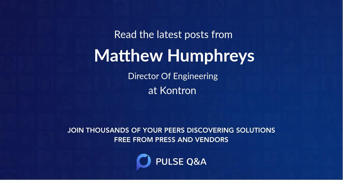 Matthew Humphreys