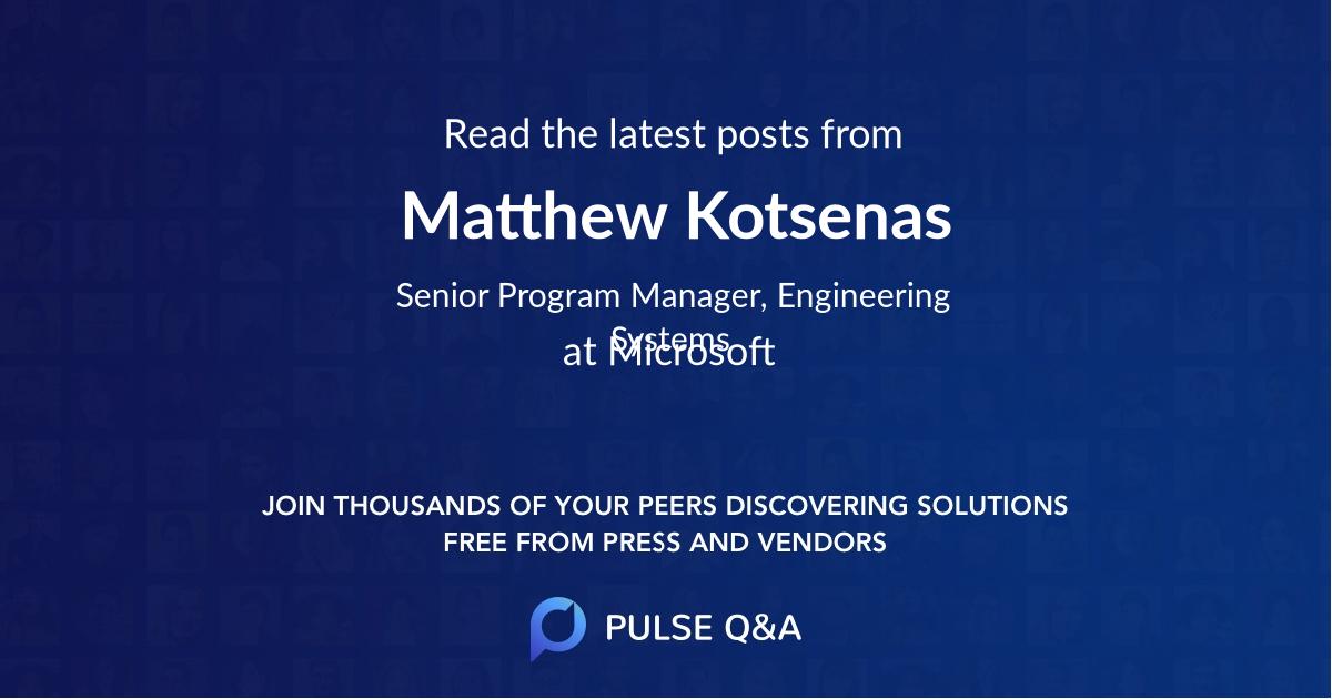 Matthew Kotsenas