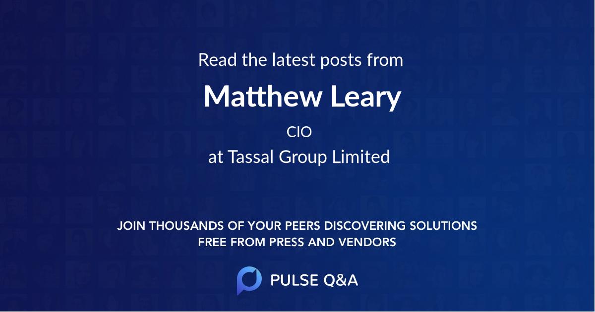 Matthew Leary