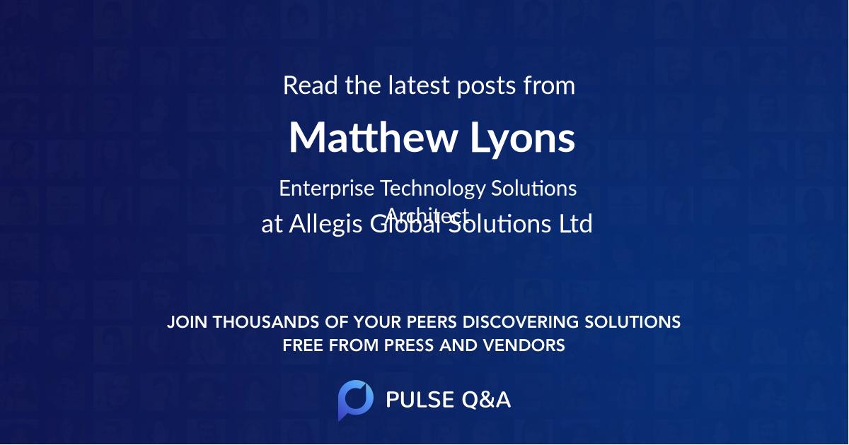 Matthew Lyons
