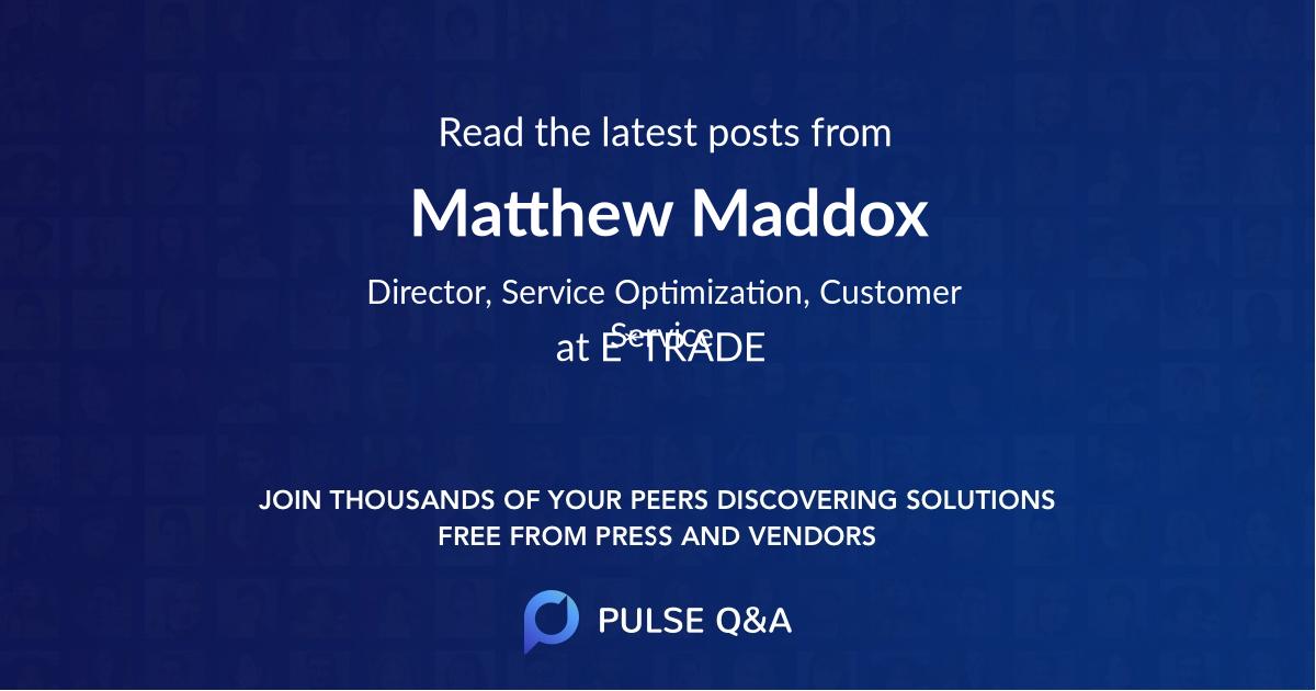 Matthew Maddox