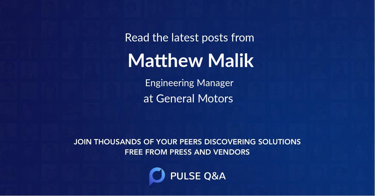 Matthew Malik