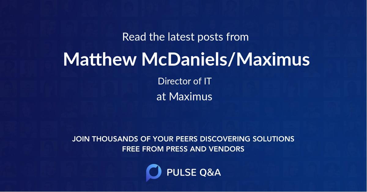 Matthew McDaniels/Maximus