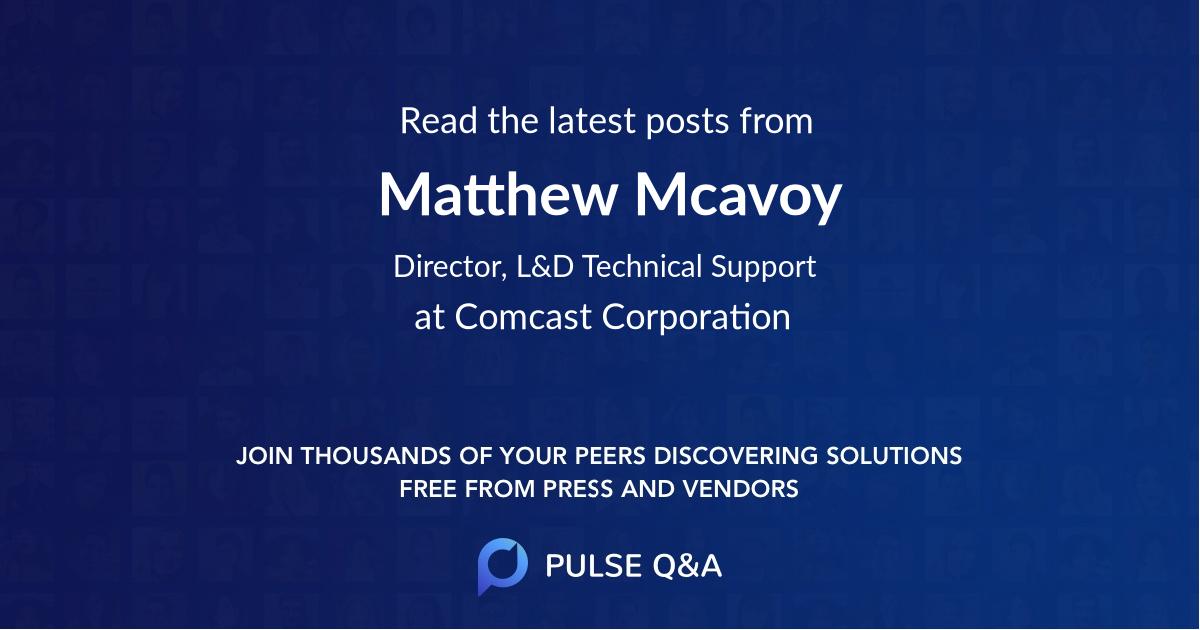 Matthew Mcavoy