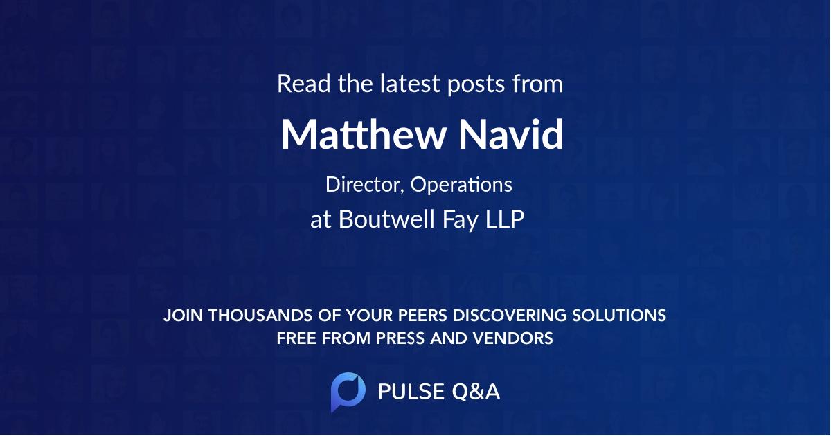 Matthew Navid
