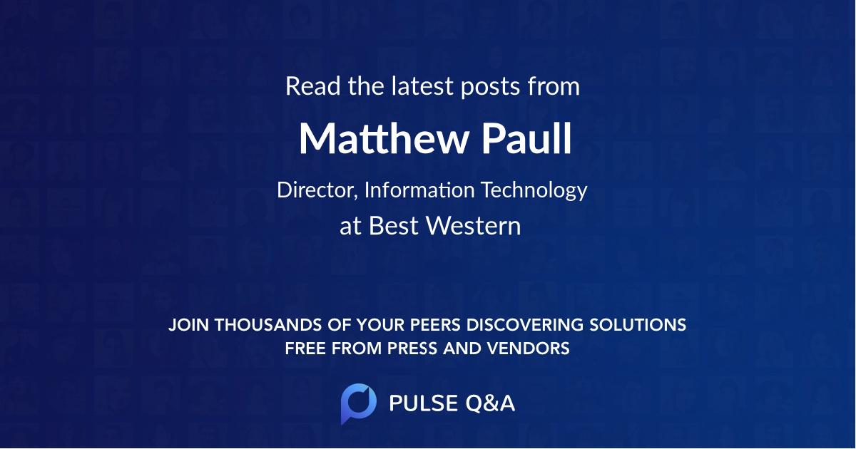 Matthew Paull