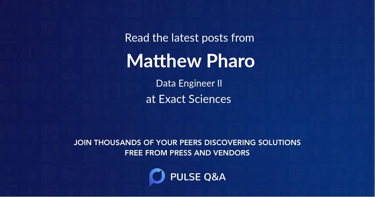 Matthew Pharo