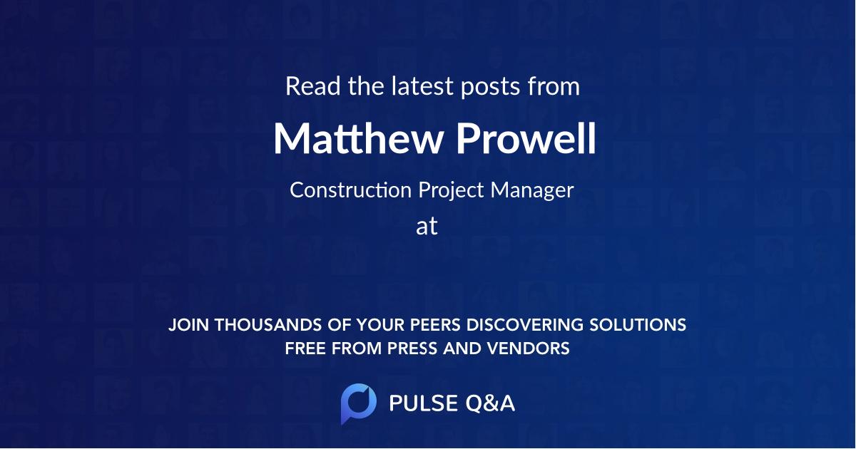 Matthew Prowell