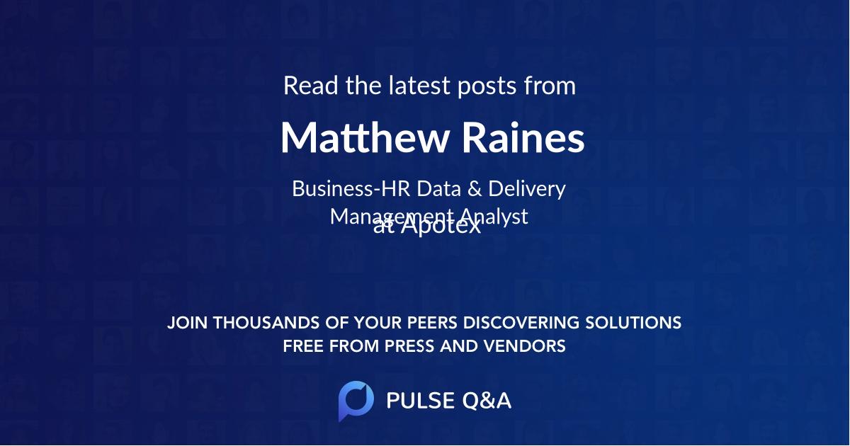 Matthew Raines