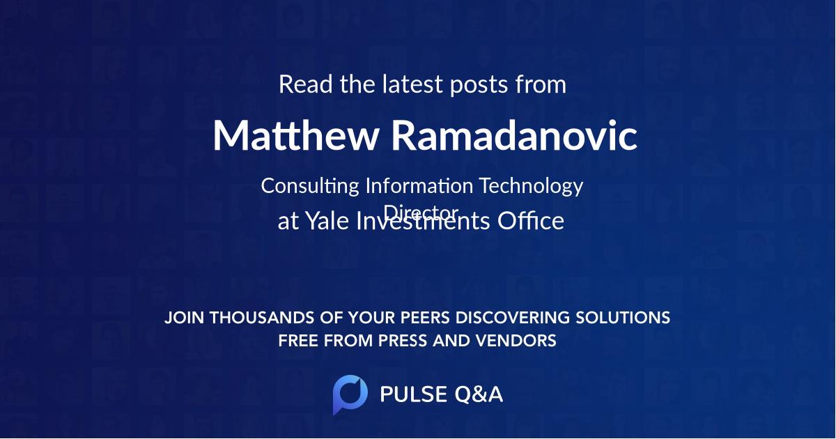 Matthew Ramadanovic