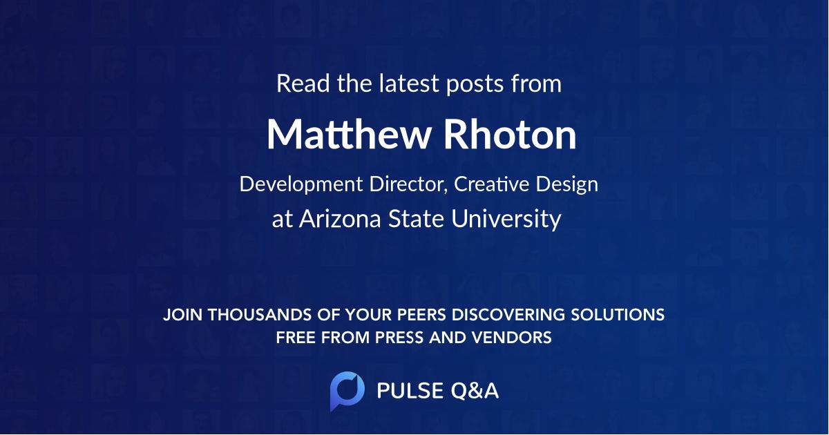 Matthew Rhoton