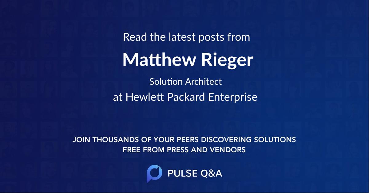 Matthew Rieger