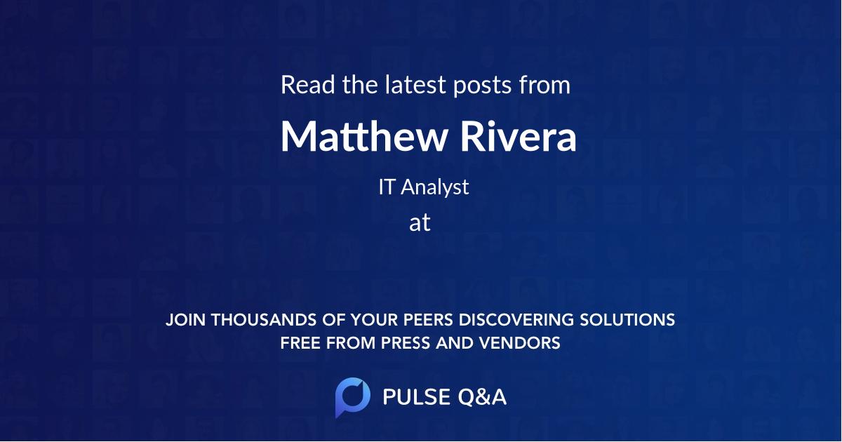 Matthew Rivera
